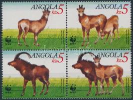 WWF Gian antelope block of four, WWF Óriás antilop négyestömb