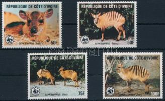 1985 WWF: Zebra-bóbitásantilop sor Mi 881-884