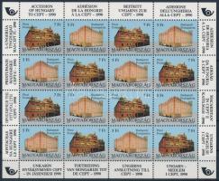 1991 Magyarország csatlakozása a CEPT-hez kisív (20.000)