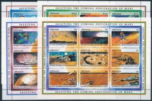 Mars research minisheet set, Mars kutatás kisív sor