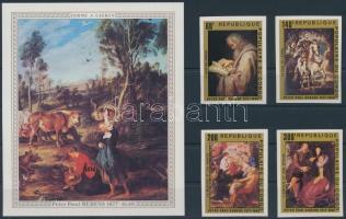 1978 Rubens festmények vágott sor + blokk Mi 606-609 + Mi 14