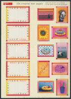 Greeting stamps self-adhesive minisheet, Üdvözlőbélyeg öntapadós bélyegkisív