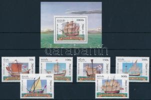 1997 Hajók sor Mi 1600-1605