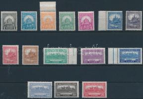 1926 Pengő-fillér I. szinte komplett A sor, 4f hiányzik (24.700) (ráncok / creases)