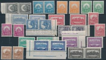 1926 2 db Pengő-fillér I. szinte komplett A sor, 4f hiányzik (49.400) (ráncok / creases)