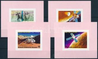 Space Research imperforated blockset, Űrkutatás vágott blokksor