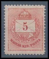 1874 5kr I. tip két kis tus szignóval, így is nagyon szép darab (130.000)