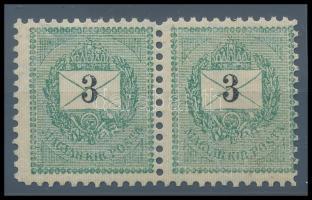 1889 3kr pár 11 1/2 fogazással, szép darab (60.000++)