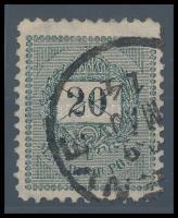 1898 20kr 11 1/2 fogazással, hibátlan darab (20.000)