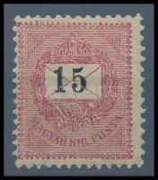 1899 15kr RRR! (120.000) (jelentéktelen gumirepedés)