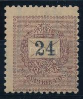 1899 24kr gyönyörű darab, garantáltan III-as vízjel, talá a legritkábban látható darab RRRR! (640.000)