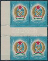 1949 Alkotmány sor ívközéprészes 4-es tömbökben, makkos vízjellel (140.000)