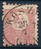 1871 Képbe fogazott Kőnyomat 5kr ,,KŐSZ(EG) GÜN(S)