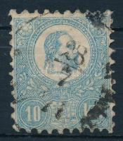 1871 Kőnyomat 10kr tejkék, ritka (58.000)