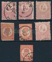 1871 4 db Kőnyomat 5kr + 3 db Kőnyomású Hírlapbélyeg (~50.000)