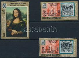 3 stamps, 3 klf bélyeg