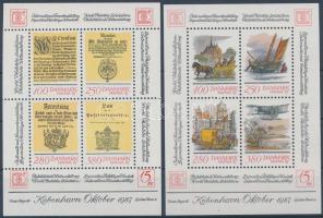 1985-1986 Hafnia Stamp Exhibition blockset, 1985-1986 Hafnia bélyegkiállítás blokksor