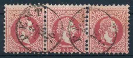 1867 5kr hármascsík PEST