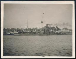 A Dunai Flottilla Temes osztályú monitora, fotó, 8,5x11 cm