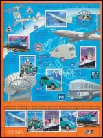 2002 Szállítóeszközök a 20. században kisív Mi 3608-3612