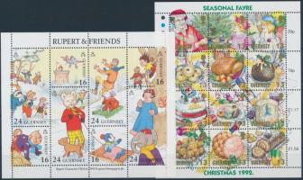 1992 Christmas mini sheet + 1993 Cartoon mini sheet, 1992 Karácsony kisív + 1993 Rajzfilm kisív