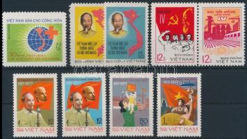 1976-1977 3 db sor + 1 bélyeg
