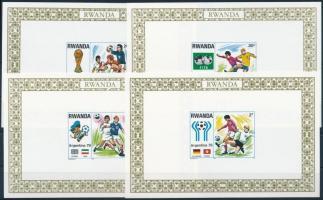 Football World Cup in blockform, Labdarúgó VB sor blokkformában  (2 db stecklapon)