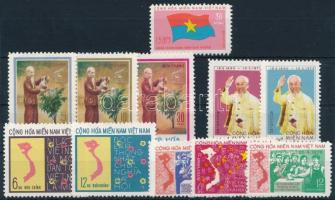 1974-1976 4 db klf sor + 1 bélyeg