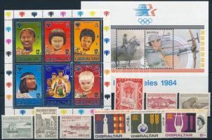 1956-1987 2 klf blokk, 3 sor + 1 önálló érték