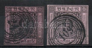 1851 Forgalmi bélyegek Mi 4a+b