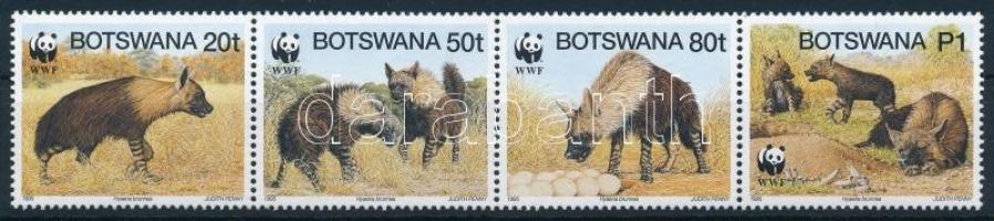 WWF Brown hyena set stripe of 4, WWF: Barna hiéna sor 4-es tömbben