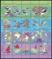 Marine life complete sheet, Tengeri élővilág teljes ív