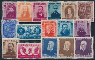 1942-1943 4 sets + 1 stamp, 1942-1943 4 klf sor + 1 önálló érték