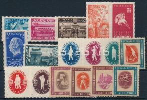 1944-1946 3 sets + 3 stamps, 1944-1946 3 klf sor + 3 klf önálló érték