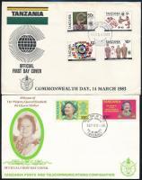 1978-1987 6 diff. FDC-s, 1978-1987 6 db klf FDC