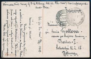 1915 Képeslap K. und K. KRIEGSMARINE / S.M.S. ERZHERZOG FERDINAND MAX