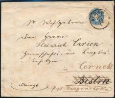~ 1865 10kr on cover ,,AGRAM - Bistra, forwarded ,,NEUGRADISKA