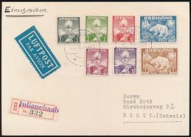"""Registered airmail postcard """"JULIANEHAAB"""" - """"BASEL"""", Ajánlott légi levelezőlap """"JULIANEHAAB"""" - """"BASEL"""""""