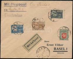 """Airmail cover """"KAUNAS"""" - Basel, Légiposta levél """"KAUNAS"""" - Basel"""