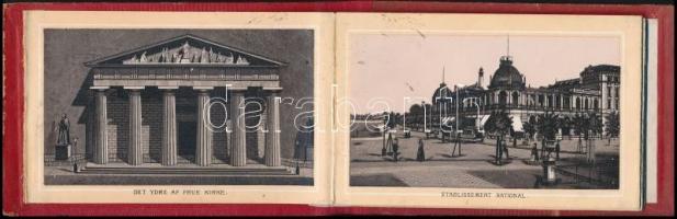 cca 1880 Koppenhága 18 litho képet tartalmazó leporelló / Kobenhavn Leporello with 18 litho images
