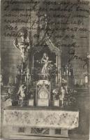 Selmecbánya, Schemnitz, Banska Stiavnica; Kolos leány nevelőintézet kápolna oltára, belső / girl schools chapel altar, interior (EK)