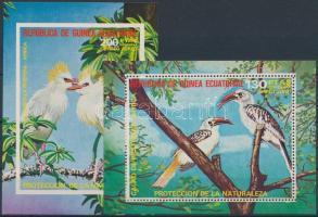 1974/1976 Birds 2 block 1974/1976 Madarak 2 db blokk
