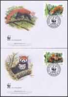 WWF: Red panda set 4 FDC, WWF: Vörös panda sor 4 db FDC-n