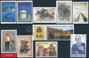 10 stamps, 10 klf bélyeg, közte teljes sorok