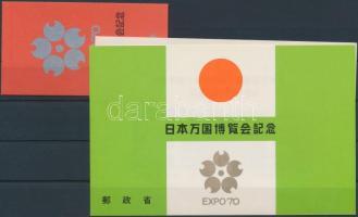 Osaka World Expo stamp-booklet + block in original holder, Osakai világkiállítás bélyegfüzet + blokk eredeti tokban