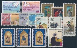 1989-1995 Liechtenstein 5 sets + 1 stamp, 1989-1995 Liechtenstein 5 db klf sor + 1 bélyeg