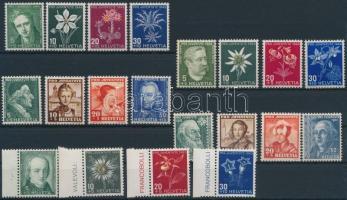 1941-1946 Pro Juventute 5 set 1941-1946 Pro Juventute 5 klf sor
