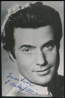 1955 Sárdy János (1907-1967) operaénekes, színész dedikált fotólapja, 12x8 cm