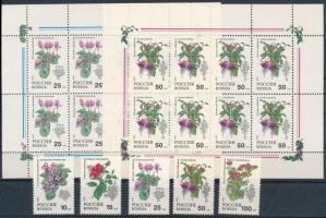 Flower set + mini sheet set, Virág sor + kisívsor