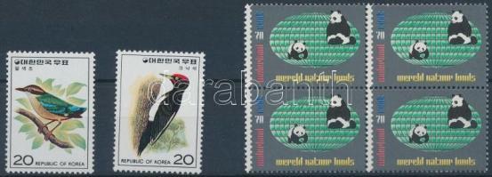 Animals 1976-1984 1 block of 4 + 1 set, Állat motívum 1976-1984 1 négyestömb + 1 sor